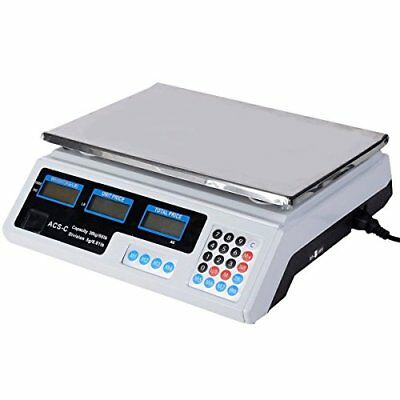 Electronic Price Computing Scale LCD Digital Commercial Food Meat Cou...