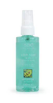 SBC Witch Hazel & Zinc Skincare Gel, with Tea Tree Oil, for all skin types 100ml