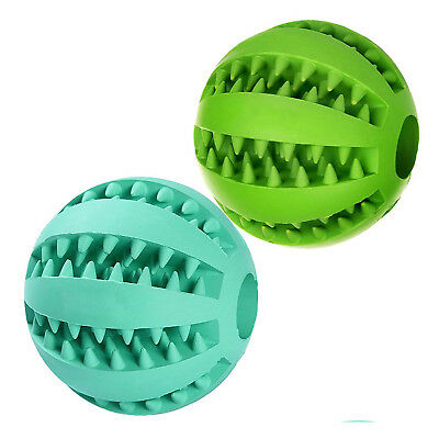 Dog Ball Toys for Pet Tooth Cleaning/Chewing/Playing,IQ Treat Ball Food Dis E7U4