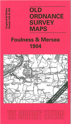 Old Ordnance Survey Map Foulness Mersea 1904 Clacton Brightlingsea St Osyth