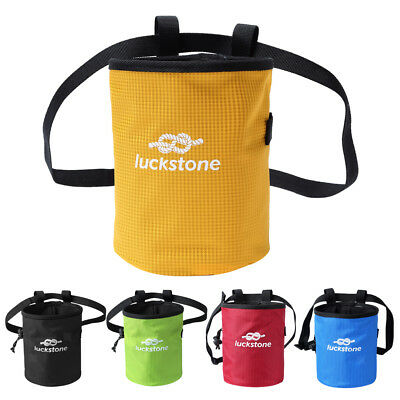 Rock Climbing Chalk Bag with Quick-clip Belt & Drawstring for Gym Bouldering