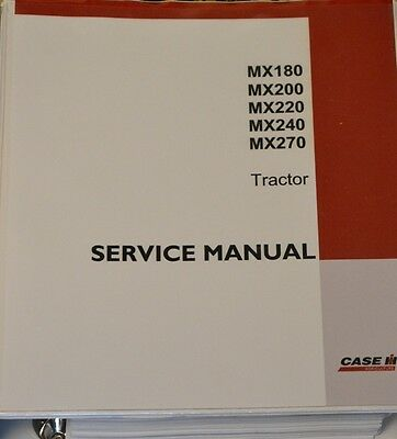 Case MX 180 200 220 240 270 Service Manual Repair Workshop Reparaturhandbuch