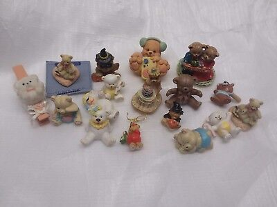 Lot of Vintage Miniature Dollhouse Ceramic Bears - Germany Itty Bitty More