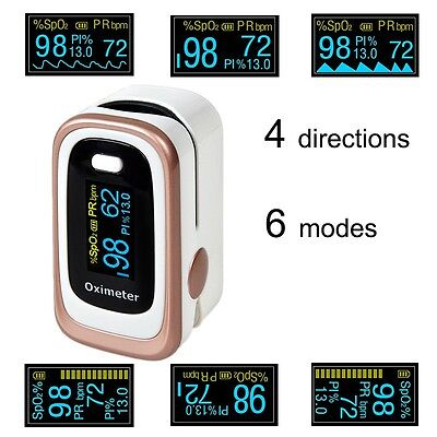 US stock Finger Pulse Blood Oxygen Oximeter Monitor SPO2 PR PI ODI CE FDA NEW