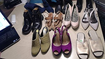 Euc Size 6 Lot Of 10 Boots Hills Shoes Dr Martens Coach G Espadrilles Crocs &