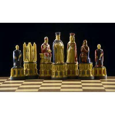 SAC A185S Hand Painted Canterbury Cathedral Chess set - NEW - board not included