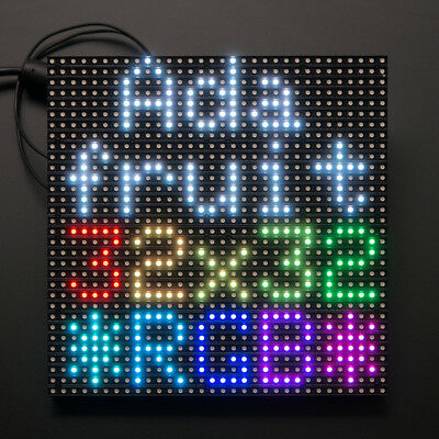 Adafruit 32x32 RGB LED Matrix Panel, 1024 helle RGB-LEDs, 6mm Rastermaß, 1484