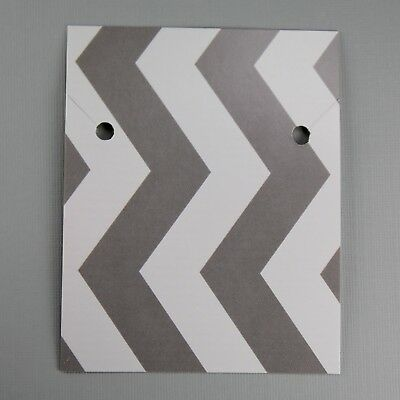 Jewelry Cards Packaging Necklace Paper Display Cards Gray Chevron
