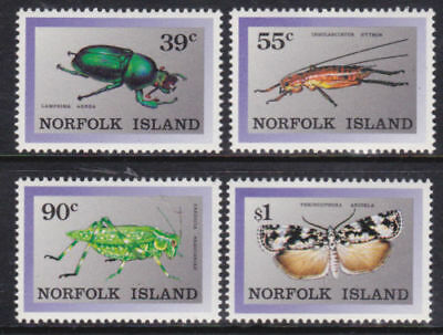 Mint 1988 Norfolk Island Endemic Insects Muh Cv$6.25