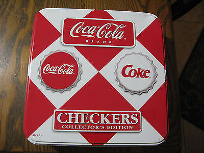Coca Cola Checkers Collectors Edition Game  in Collectible Tin