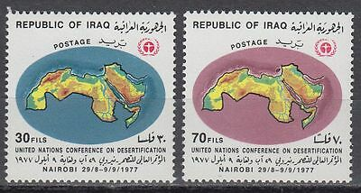 Irak Iraq 1977 ** Mi.919/20 Landkarte Map Verwüstung Desertification UNO [i585]
