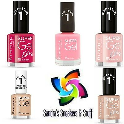 Rimmel Super Gel & Super Gel By Kate Nail Polish Please Choose Your Colour