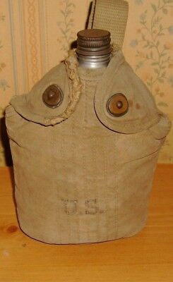 WWII US Army M1910  Canteen  Khaki Cover Baker Lockwood ?