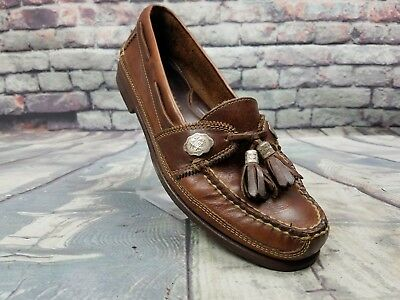 63392b7defc Men s COLE HAAN Country shoes   5316 Brown Leather Tassel Loafers Brazil Sz  7.5