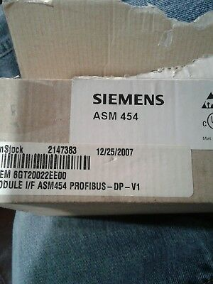 Siemens 6Gt2002-2Ee00 Interface Module Asm454 Profibus-Dp-V1 Moby I (New In Box)