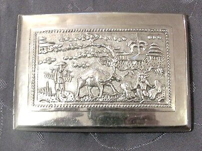 Chinese Export Silver Cigaret Case Argent Massif Etui A Cigarettes