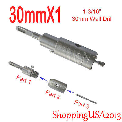 1X 30mm Concrete Drill Bit Hole Saw Cutter Tool  Cement Brick Stone Wall@@