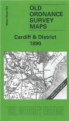 Old Ordnance Survey Map Cardiff 1890 St Mellons Whitchurch Llanishen Barry