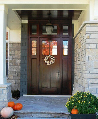 Craftsman Entry Door With Sidelites and Transom
