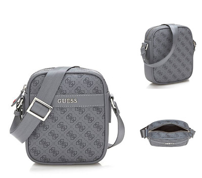 GUESS Mini Crossbody Bag 6214 UPTOWN Very Small G-Logo Bags Grey Slim Case  BNWT 74cce47601a56