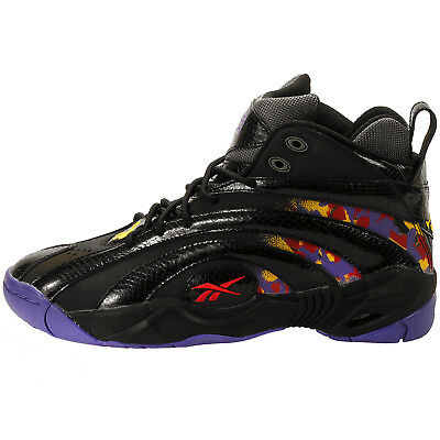c83907fa675 Reebok Men s Shaqnosis OG NEW AUTHENTIC Black Purple Yellow Red V61028