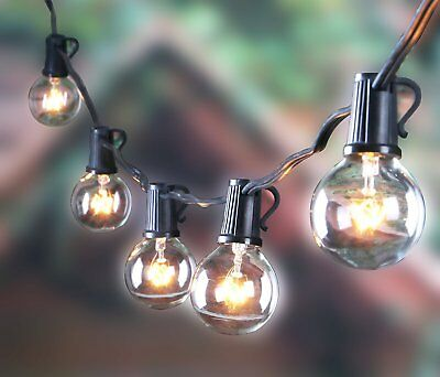 25FT Outdoor G40 Globe String Lights, Vintage Backyard Patio Lights with 25