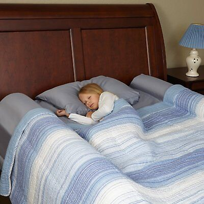 [2-Pack] hiccapop Foam Bed Bumpers Toddler Bed Rails with Water-resistant Cover