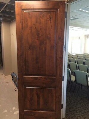 10 each 8ft PRE-HUNG KNOTTY ALDER SQUARE TOP INTERIOR DOORS