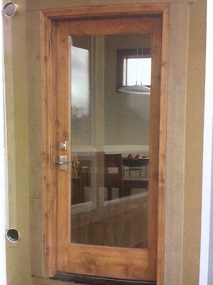 Interior Knotty Alder Full Lite Glass Doors