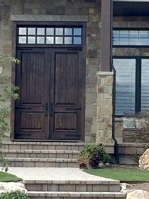TUSCAN 6/0x8/0 DOUBLE ENTRY DOOR WITH TRANSOM KNOTTY ALDER