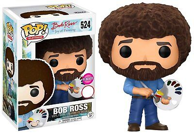 Bob Ross Flocked The Joy of Painting Malerei POP! Television #524 Figur Funko