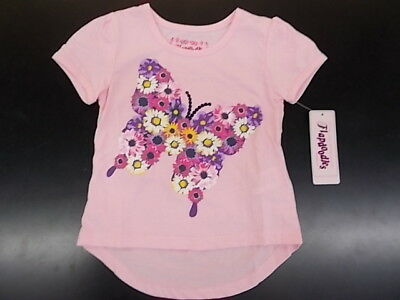 Toddler Girls Flapdoodles $16 Light Pink High-Low Butterfly T-Shirt Size 2T - 4T