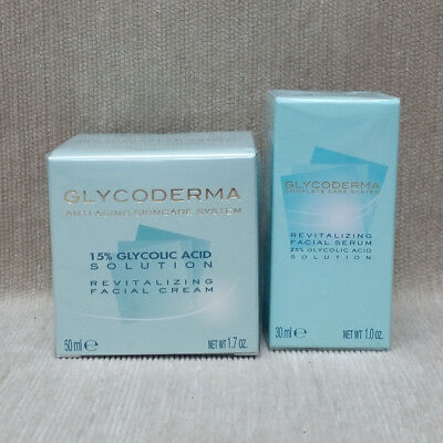 Glycoderma Revitalizing Facial Cream 15% OR 25% 1.7 oz OR Facial Serum 25% 1 oz