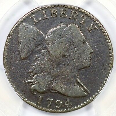 1794 S-66 PCGS F Details Head of 1794 Liberty Cap Large Cent Coin 1c