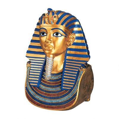 Gold Mask of Tutankhamun Egyptian King Sculpture Replica Reproduction