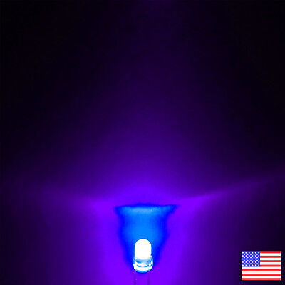 10x (10pcs) 3mm Round UV LED Ultraviolet Purple Bright -US Seller -Free Shipping
