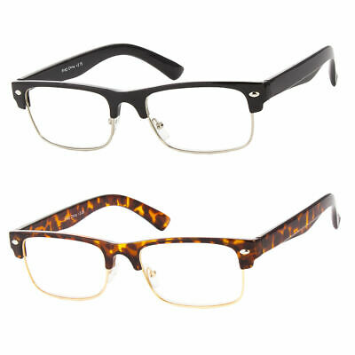13733c0ebed5c READING GLASSES SMALL CLUBMASTER CLEAR FULL LENS MEN WOMEN RETRO VINTAGE  STYLE