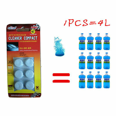 6Pcs Car Solid Wiper Fine Car Auto Window Cleaning Car Windshield Glass Cleaner