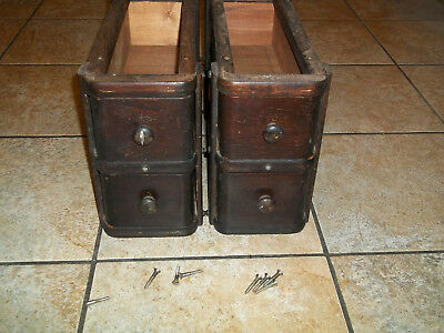 Singer Antique Treadle Sewing Machine Cabinet Drawers 4 Drawers with frames