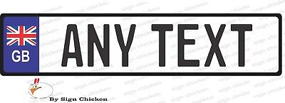 EURO STYLE  TAG BMW  European license plate, ANY TEXT, BRITISH, GREAT BRITAN
