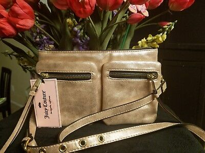 Juicy Couture Authentic Gold Metallic Shimmer Small New With Tag Handbag  $59.00