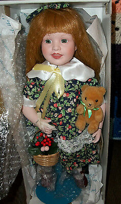 Marian Yu Limited Edition Doll / Orig  Box and COA~DORTHY-BASKET AND BEAR /STAND