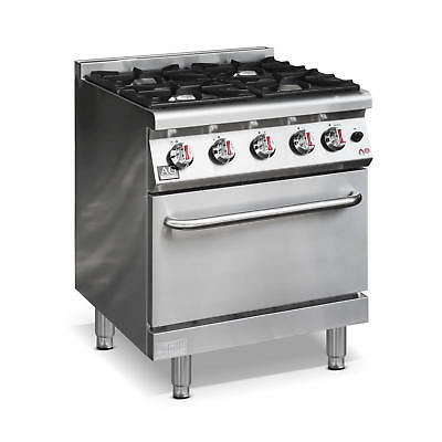 New Commercial Natural Gas 4 Burner / Hob Gas Cook top Stove top and Oven