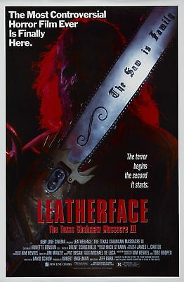 Leatherface Texas Chainsaw Massacre III Original Rolled 27x40 Movie Poster 1990