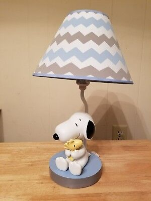 Lambs & Ivy My Little Snoopy lamp with shade & bulb