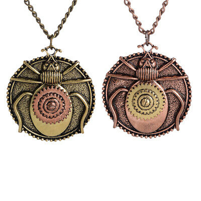 Steampunk Gears Beatles Pendant Necklace Chain Antique Insect Animal Mens