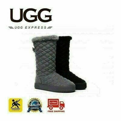 Ugg Ladies Fashion Boots - Christine Short Button Quilted Genuine Australian She