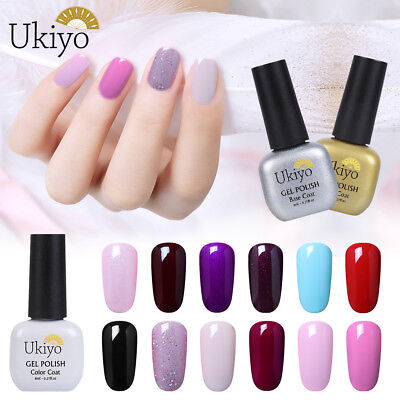 Ukiyo 8ml Soak Off UV Gel Polish Top Base Coat Nail Varnish Nail Art Manicure