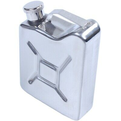Stainless Steel 5oz Hip Flask Liquor Whiskey Alcohol Fuel Gas Gasoline Can S4K9
