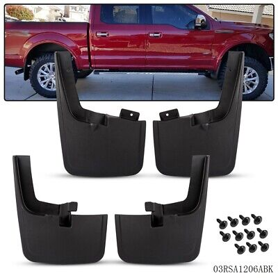 For 15-18 Ford F150 Front Rear Splash Mud Guards Flaps WITHOUT Fender Flares